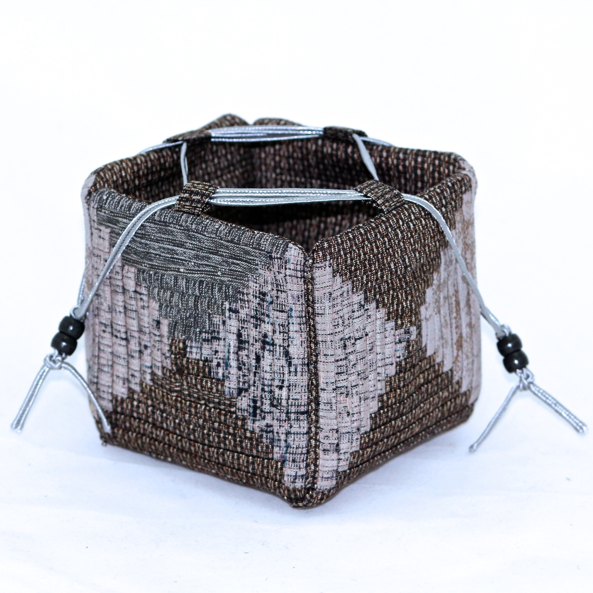 Trinket and tool bags made with recycled fabric